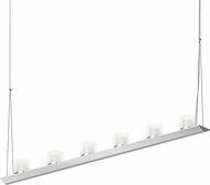 Sonneman 2858.16-LW Votives Modern Bright Satin Aluminum LED Island Light Fixture