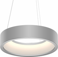 Sonneman 2862.16 Tromme Modern Bright Satin Aluminum LED 18  Drum Drop Ceiling Lighting