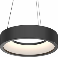 Sonneman 2862.25 Tromme Contemporary Satin Black LED 18  Drum Ceiling Light Pendant