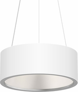 Sonneman 2863.03 Tromme Modern Satin White LED 18  Drum Ceiling Pendant Light