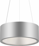 Sonneman 2863.16 Tromme Contemporary Bright Satin Aluminum LED 18  Drum Drop Ceiling Light Fixture