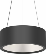 Sonneman 2863.25 Tromme Modern Satin Black LED 18  Drum Drop Lighting Fixture