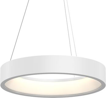 Sonneman 2864.03 Tromme Contemporary Satin White LED 24  Drum Pendant Lighting