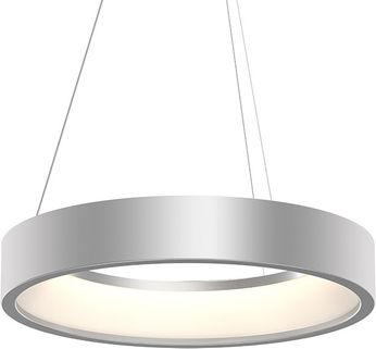 Sonneman 2864.16 Tromme Modern Bright Satin Aluminum LED 24  Drum Pendant Light