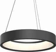 Sonneman 2864.25 Tromme Contemporary Satin Black LED 24  Drum Lighting Pendant