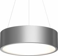 Sonneman 2865.16 Tromme Contemporary Bright Satin Aluminum LED 24  Drum Hanging Lamp