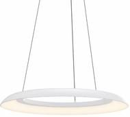 Sonneman 2870.03 Torus Contemporary Satin White LED 24  Pendant Light Fixture
