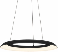 Sonneman 2870.25 Torus Contemporary Satin Black LED 24  Hanging Pendant Lighting