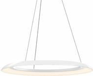 Sonneman 2872.03 Torus Modern Satin White LED 32  Hanging Pendant Light