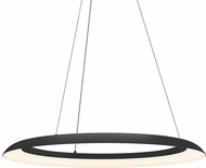 Sonneman 2872.25 Torus Modern Satin Black LED 32  Hanging Light Fixture