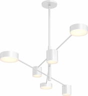 Sonneman 2883.03 Counterpoint Contemporary Satin White LED Chandelier Lamp