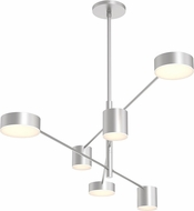 Sonneman 2883.16 Counterpoint Modern Bright Satin Aluminum LED Chandelier Light