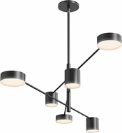 Sonneman 2883.25 Counterpoint Contemporary Satin Black LED Ceiling Chandelier