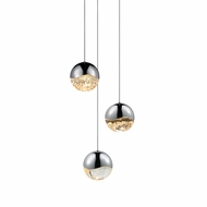 Sonneman 2914.01.LRG Grapes Modern Polished Chrome LED Large Multi Pendant Lamp