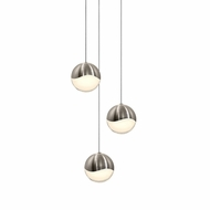 Sonneman 2914.13.LRG Grapes Modern Satin Nickel LED Large Multi Pendant Lighting Fixture
