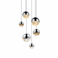 Sonneman 2915.01.AST Grapes Contemporary Polished Chrome LED Assorted Multi Pendant Hanging Light