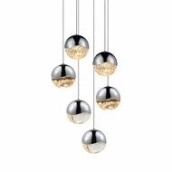 Sonneman 2915.01.LRG Grapes Modern Polished Chrome LED Large Multi Hanging Light Fixture
