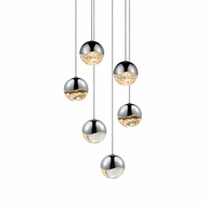 Sonneman 2915.01.MED Grapes Contemporary Polished Chrome LED Medium Multi Drop Lighting