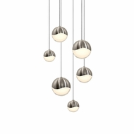 Sonneman 2915.13.AST Grapes Contemporary Satin Nickel LED Assorted Multi Ceiling Light Pendant