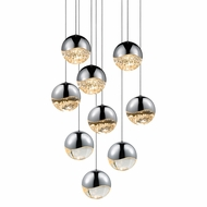 Sonneman 2916.01.LRG Grapes Modern Polished Chrome LED Large Multi Pendant Light