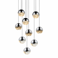 Sonneman 2916.01.MED Grapes Contemporary Polished Chrome LED Medium Multi Lighting Pendant