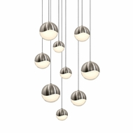 Sonneman 2916.13.AST Grapes Contemporary Satin Nickel LED Assorted Multi Hanging Lamp