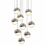 Sonneman 2916.13.LRG Grapes Modern Satin Nickel LED Large Multi Hanging Light