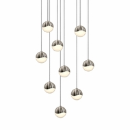 Sonneman 2916.13.SML Grapes Modern Satin Nickel LED Small Multi Pendant Lighting Fixture