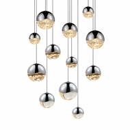 Sonneman 2917.01.AST Grapes Contemporary Polished Chrome LED Assorted Multi Hanging Pendant Lighting