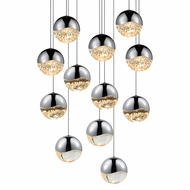 Sonneman 2917.01.LRG Grapes Modern Polished Chrome LED Large Multi Hanging Pendant Light