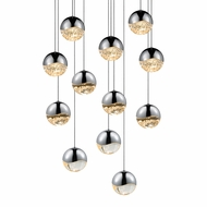 Sonneman 2917.01.MED Grapes Contemporary Polished Chrome LED Medium Multi Pendant Hanging Light