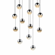 Sonneman 2917.01.SML Grapes Modern Polished Chrome LED Small Multi Hanging Light Fixture