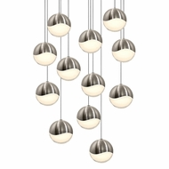 Sonneman 2917.13.LRG Grapes Modern Satin Nickel LED Large Multi Drop Ceiling Lighting