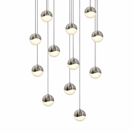Sonneman 2917.13.SML Grapes Modern Satin Nickel LED Small Multi Ceiling Pendant Light