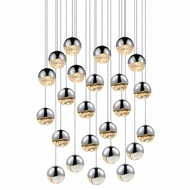 Sonneman 2918.01.LRG Grapes Modern Polished Chrome LED Large Multi Drop Lighting Fixture