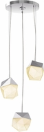 Sonneman 3003.01-SML Facets Contemporary Polished Chrome LED Multi Drop Ceiling Lighting