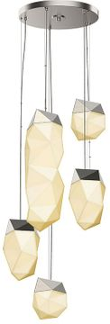 Sonneman 3005.13-AST Facets Modern Satin Nickel LED Multi Hanging Lamp