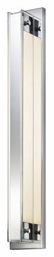 Sonneman 3010.01 Accanto Polished Chrome 28 Inch Tall 1 Lamp Lighting Sconce