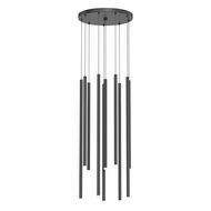 Sonneman 3018.25-AST Light Chimes Contemporary Satin Black LED Multi Hanging Light Fixture