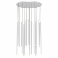 Sonneman 3019.03-AST Light Chimes Modern Satin White LED Multi Ceiling Light Pendant