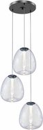 Sonneman 3074.25 Mela Contemporary Satin Black LED Multi Hanging Pendant Light