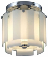 Sonneman 318701 Velo Modern Small Semi.Flush Ceiling Light