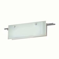 Sonneman 3212.13LED Suspended Glass Slim Contemporary Satin Nickel Finish 22  Wide LED Vanity Light Fixture
