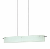 Sonneman 3219.13LED Suspended Glass Slim Modern Satin Nickel Finish 5.75  Tall LED Kitchen Island Light Fixture