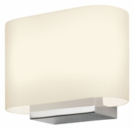 Sonneman 3715.01 Link Transitional 6 Inch Tall White Glass Wall Sconce Light