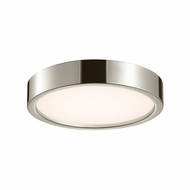 Sonneman 3725.35 Puck Slim Modern Polished Nickel Finish 2.5  Tall LED Overhead Lighting Fixture