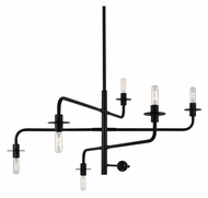Sonneman 4546.25 Atelier Small 6 Light 40 Inch Diameter Satin Black Pendant Lighting
