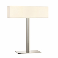 Sonneman 4612.35 Madison Contemporary Polished Nickel Finish 20 Wide Table Lamp