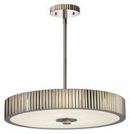 Sonneman 4623.35 Paramount 22 Inch Diameter Polished Nickel Modern Hanging Pendant Lighting