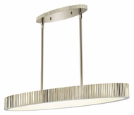 Sonneman 4624.35 Paramount 36 Inch Diameter Oval Hanging Light Fixture - Polished Nickel